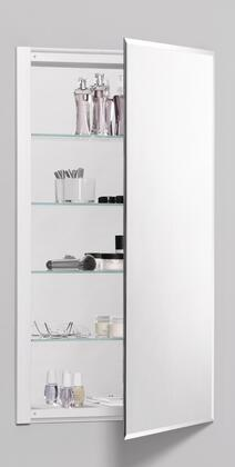 Robern R3 Series 36 inch  H Wide Mirrored Bathroom Cabinet with 4 Adjustable Cantilever Glass Shelves  Beveled Door and Low-Profile Laminated Door