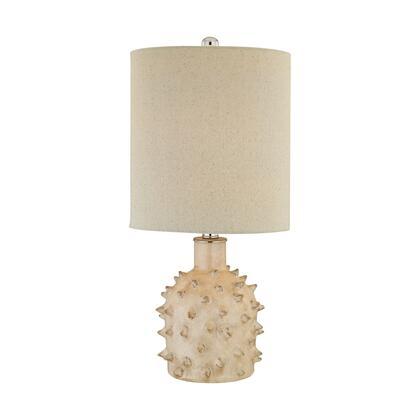 D2918 Kankada 1 Light Table Lamp in Cumberland Cream Crackle