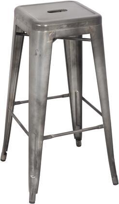 8015-BS-GUN 30 Galvanized Steel Bar Stool in Gun