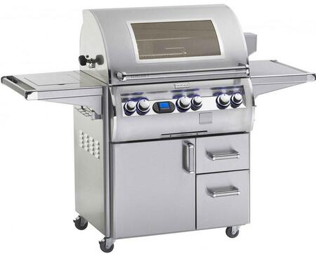E660S-4L1N-62-W Echelon Diamond Series Natural Gas Grill with Single Side Burner  One Infrared Burner and Window  660 Sq. In. Cooking Area Multi-functional