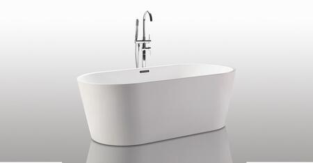 HB-BT-AGORA-67-RO Helixbath Agora Freestanding Acrylic Soaking Bathtub 68