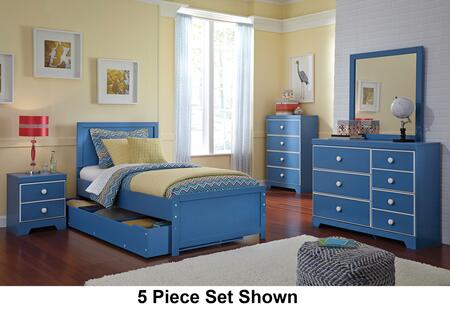 Bronilly Twin Bedroom Set With Panel Storage Bed  Dresser  Mirror And Night Stand In