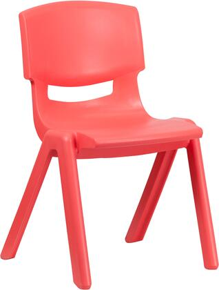 YU-YCX-005-RED-GG Red Plastic Stackable School Chair with 15.5'' Seat