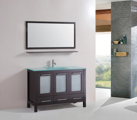 9179 48 inch  Single Large Tempered Sink Free Standing Bath Vanity Cabinet With