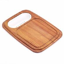 PR-40C Prestige Series Iroko Solid Wood Cutting Board with