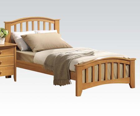 San Marino Collection 08940T Twin Size Bed with Medium-Density Fiberboard (MDF) and Solid Wood Construction in Maple