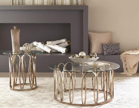Occasional Groups Collection 7057887 2 PC Living Room Table Set with Coffee Table + End Table in Chocolate Chrome
