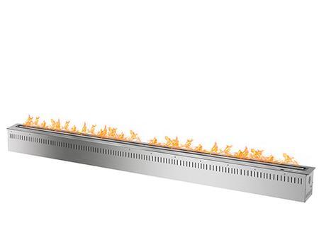 RCFB18K 72 inch  Smart Burner Collection Bio Ethanol Fireplace Insert with Remote Controlled Smart Burner  18 000 BTU   51 000 BTU  CO2 Sensor and Insulated Bottom