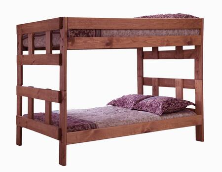 312007 Full Over Full Bunk Bed in Mahogany