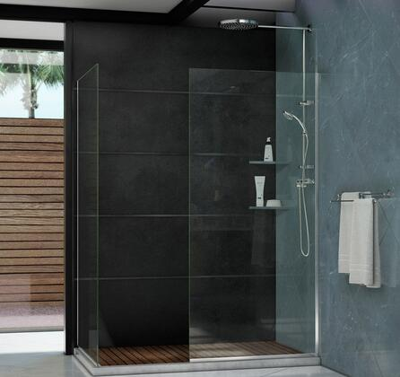 SHDR-3230302-01 Linea Frameless Shower Door. Two Glass Panels: 30 in. x 72