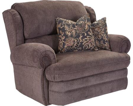 Hancock Collection 203-14/1426-14/1241-13 52 inch  Snuggler Recliner with Fabric Upholstery  Rolled Arms  Nail Head Trim and Traditional Style in Viper