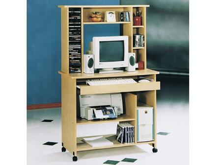Aspen Fall 08012 35 Computer Desk with Casters  Keyboard Tray  CPU Storage Shelf  Solid Wood and Veneer Materials in Maple