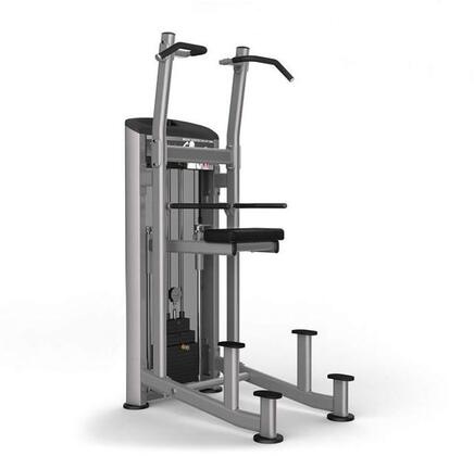 E-3899 Platinum Series 9520 Weight Assisted Chin/Dip Machine with 200 lbs. Incremental Weight Stack  Military Grade Cables and High-Tech Oval Tubing in Black