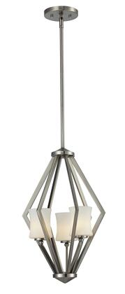 Elite 609-3-BN 12 inch  3 Light Foyer Pendant Contemporary  Urbanhave Steel Frame with Brushed Nickel finish in Matte