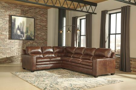 Gleason Collection 15703-48-67 2-Piece Sectional Sofa with Left Arm Facing Sofa with Corner Wedge and Right Arm Facing Sofa in