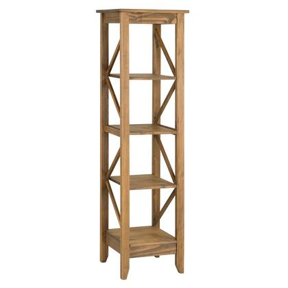 """Jay 2.0 Collection CS34006 19"""" Solid Wood Bookcase with 4 Open Shelves and Lifted Base in"""