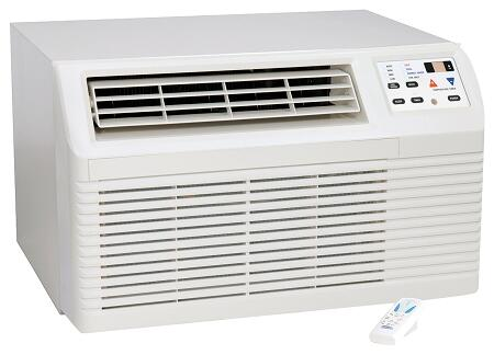 PBC093G00CB 9 300 BTU Through-the-Wall Air Conditioner with 9 300 BTU Cooling 230 Volts 4-Way Adjustable Airflow 2 Fan Speeds Electronic Touchpad with