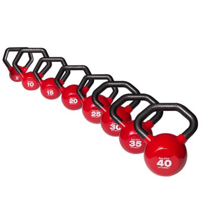 KBLS180 Cast Iron Kettleball with Angled Handle and Vinyl Coating Set (Includes 5 lbs.  10 lbs.  15 lbs.  20 lbs.  25 lbs.  30 lbs.  35 lbs.  and 40
