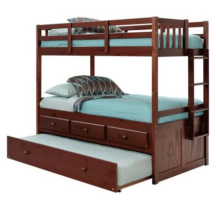 3656010 Twin Over Twin Bunk Bed with Trundle and Storage
