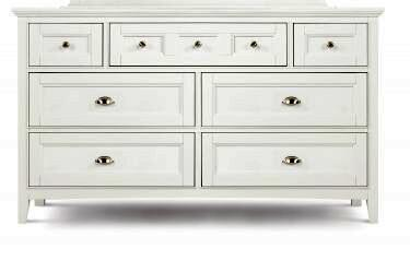 Y1875-20 Kenley Next Generation Youth Seven Drawer Dresser in White
