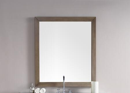 Chicago Collection 305-M48-WWW 48 inch  x 42 inch  Mirror with Beveled Glass and Acacia Solids in Whitewashed