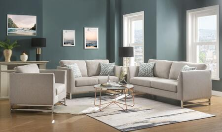 Varali Collection 54550SLCT 4 PC Living Room Set with Sofa  Loveseat  Chair and Coffee Table in Beige