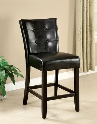 Marion II Collection CM3866PC-2PK Set of 2 Counter Height Chair with Leatherette Upholstery and Button Tufted Back in