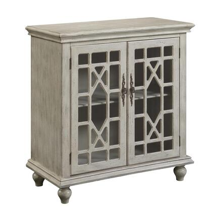 70830 36 inch  Cabinet with Two Glass Doors  Chippendale Lattice and Turned Legs in Millstone Texture