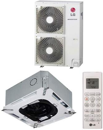 LC427HV Ceiling Cassette Single Zone Mini Split System with 42000 Cooling Capacity 47000 Heating Capacity Inverter Swirl Wind Jet Cool and Ultra-quiet