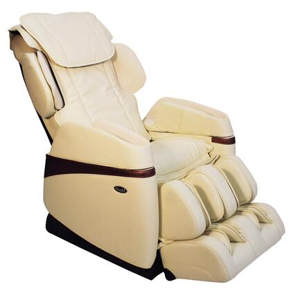 OS-3700 CREAM Massage Chair with Arm Air Massagers  4 Manual Massage Modes and Dual Massages  Foot Roller Massage and Heat on Lumbar in