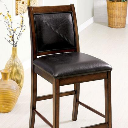 Living Stone III Collection CM3590PC-2PK Set of 2 Counter Height Chair with Leatherette Seat in Tobacco