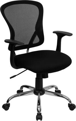 H-8369F-BLK-GG Mid-Back Black Mesh Office Chair with Chrome Finished