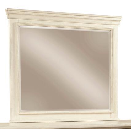 Bolanburg Collection B647-36 43 X 39 Bedroom Mirror With Crowned Moldings  Beveled Glass And Textured Finish In Antique