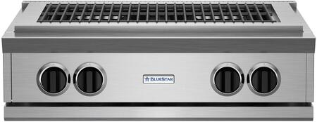 "PRZIDCB30V2 30"""" Indoor Charbroiler with Two 15 000 BTU Burners  Adjustable Cast-Iron Grates and Commercial Stainless Steel Construction  and Adjustable Grate"" 456251"