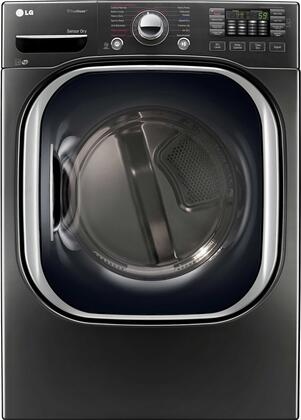 LG DLEX4370K 7.4 Cu. Ft. Black Stainless Electric Dryer with TurboSteam