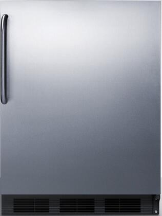 FF7BCSS 24 inch  FF7BI Series Medical  Commercial Freestanding or Built In Compact Refrigerator with 5.5 cu. ft. Capacity  Adjustable Spill Proof Glass Shelves and