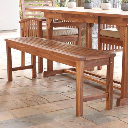 OWB7SBR Acacia Wood Patio Bench -
