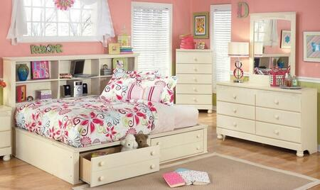 Cottage Retreat Full Bedroom Set With Bedside Storage Bed  Dresser And Mirror In