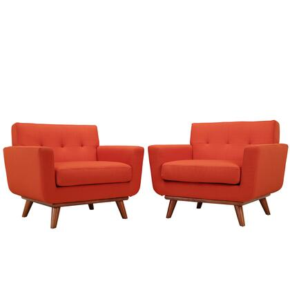 Eei-1284-ato Engage Armchair Wood Set Of 2 In Atomic Red
