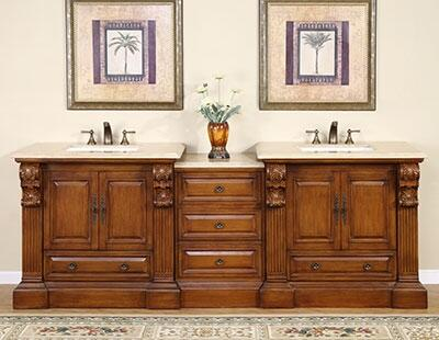 Bravia HYP0907TUWC95 3 PC Vanity Set with 2 Single Sink Cabinets + 1 Drawer Bank in Cherry