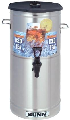 34100.0002 TDO-4 Cylinder Style Iced Tea and Coffee Dispenser With Brew-Through Lid  Faucet Handle  Sump Dispense Valve  in