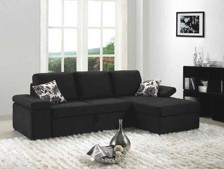 Vgmb1000 Divani Casa Avalon Sectional Sofa Set With 1 Throw Pillow  Bed  Removable Back Cushions  Padded Frame And Fabric Upholstery In
