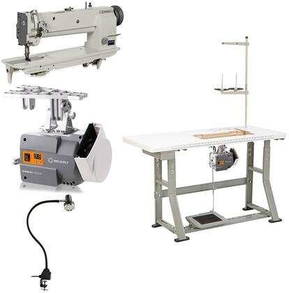 5400sw Single Needle 18 Long Arm  Walking Foot Sewing Machine With 1800 Rpm  6000sm Servomotor  Uberlight 9000c Smd-led Light And 100% Plywood Tabletop With