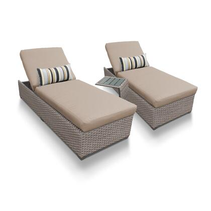 Oasis-2x-st-wheat Oasis Chaise Set Of 2 Outdoor Wicker Patio Furniture With Side Table With 2 Covers: Grey And