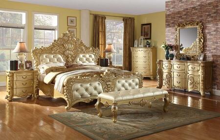 Zelda Collection Zeldakpbdm2ncb 7-piece Bedroom Set With King Panel Bed  Dresser  Mirror  2 Nightstands  Chest And Bench In
