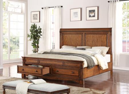 Parliament Collection Zpar-700qb Queen Panel Bed With Footboard Storage In Hazelnut