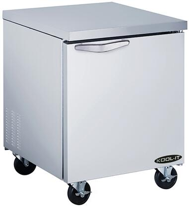 KUCF271 27 inch  Undercounter Freezer with 6.8 cu. ft. Capacity  1 Doors  2 Shelves  3/8 HP  in Stainless