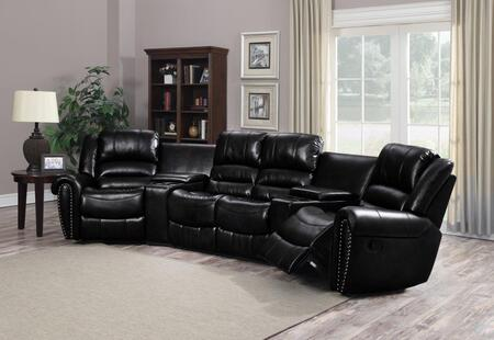 LAREDO-5PC LAREDO 5 Piece Set Reclining Bonded Leather Sectional Sofa (W. 2Pcs