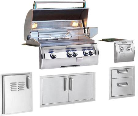 Grill Package with E660I4LAP Built In Liquid Propane Grill  32814 Double Side Burner  53802SC Double Drawer  53934SC Double Door  53820SCTL Single Access Door