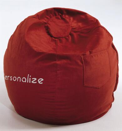 30232P Small Beanbag Red Micro Suede -